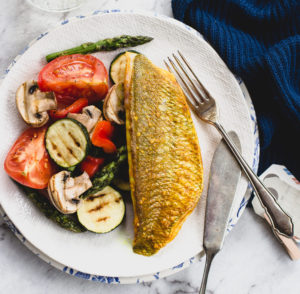 Turmeric Snapper with Grilled Vegetables